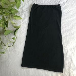 American Apparel Too-Short Tube Dress Black M